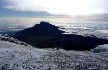 14671547 - the snowy peak of mt kilimanjaro in tanzania, africa